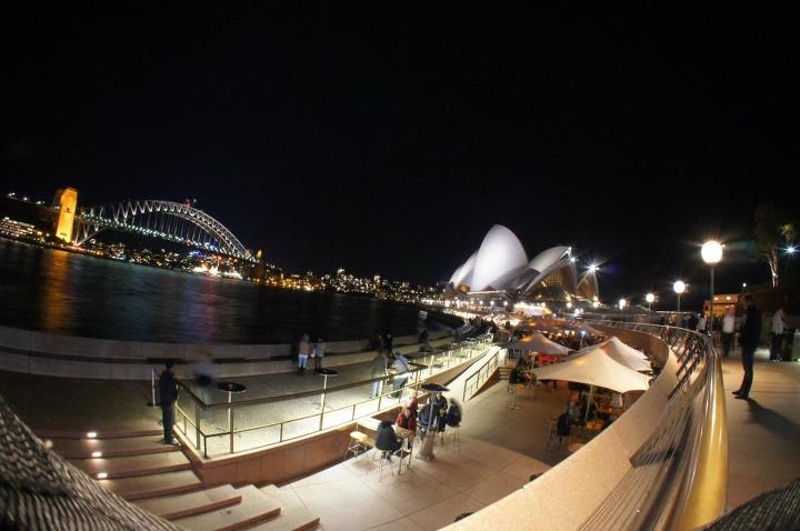 Sydney Harbour Bridge + Sydney Opera House - taken with Sony NEX 5, fisheye attachment