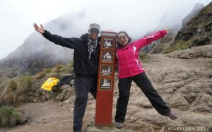At the highest point of the Inca Trail: Abra Warmihuañusca (Dead Woman's Pass – 4,215m/13,828ft)
