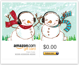 Amazon.com Kindle Gift Cards for email, Facebook  or printable delivery