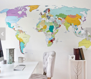 World Map Wall Stickers & Decals - Etsy.com  Seller & Image: Vinylimpression