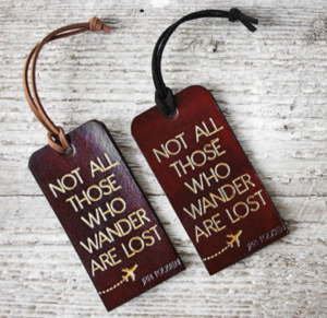 Personalised Leather Luggage Tags - Etsy.com Seller & Image: Exsect