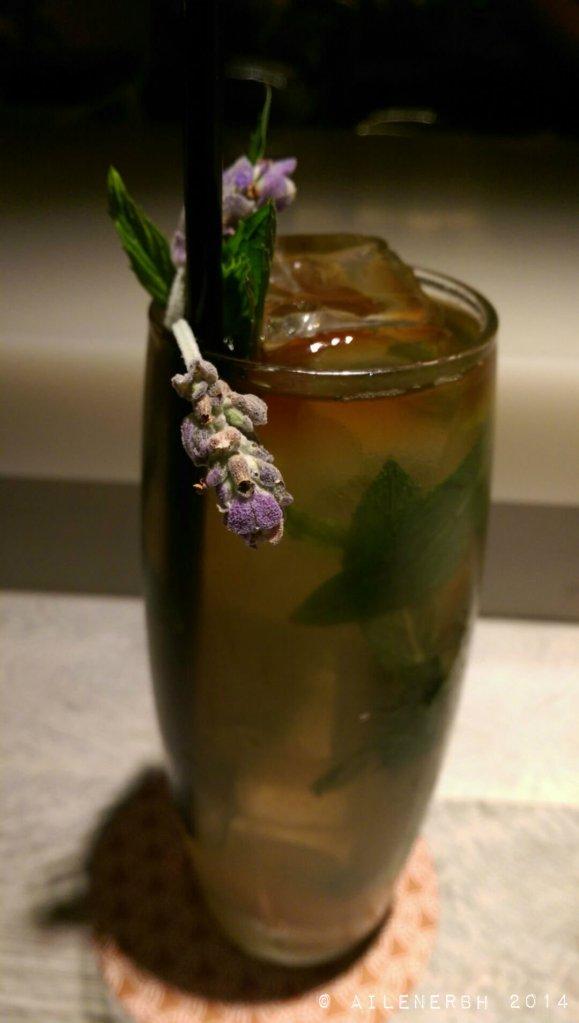 """""""RAT"""" 17 lavender tea soda, mint, pimms, havana club 3yr"""