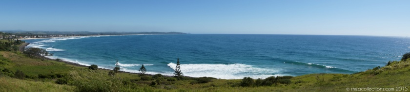 Seven Mile Beach, Lennox Head NSW from Pat Morton Lookout