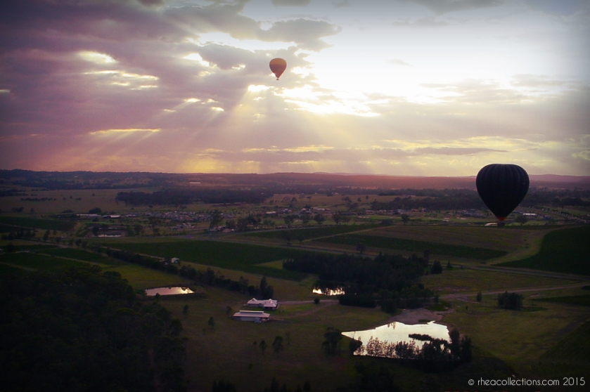 Hot air balloon, Hunter Valley NSW Australia