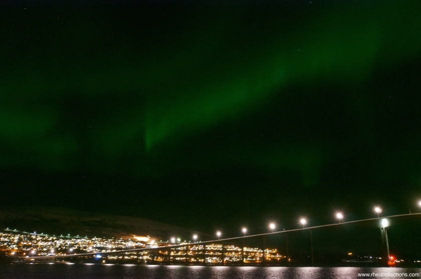 I wouldn't recommend taking photos of the northern lights aboard a moving vessel. Out of the photos I took from that night, this was the only decent one I'm willing to post.